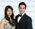 Actors Goldy Notay and Valmike Rampersad arrive at Asian Business Awards 2014