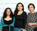 Actors Shobhu Kapoor, Sudha Buchar and Shaheen Khan arrive at Asian Business Awards 2014
