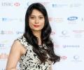 Actress Goldy Notay wears designer Raishma Islam's creation at Asian Business Awards 2014
