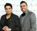 Music producer Rishi Rich and singer Juggy D at the Asian Business Awards 2014