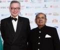 Rt Hon Michael Gove MP, Secretary of State for Education with  billionaire GP Hinduja at the launch of Asian Rich List & As