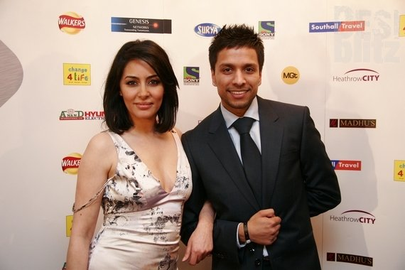 Sunny Hira (Most up and Coming Personality of the Year) with Laila Rouass