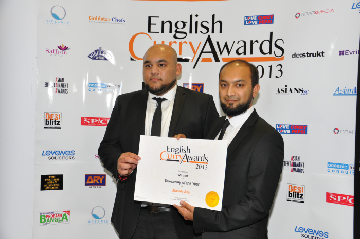 English Curry Awards 2013: Takeaway of the Year South East