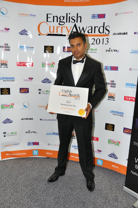 English Curry Awards 2013: Takeaway of the Year London