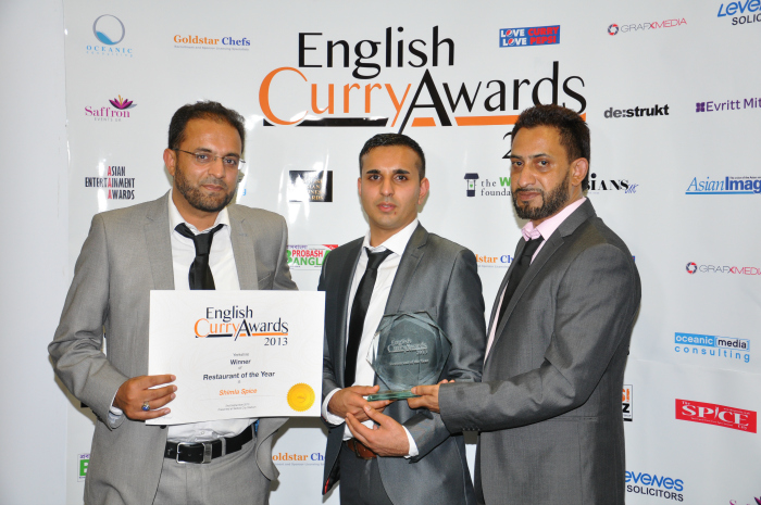 English Curry Awards 2013: Resturant of the year Yorkshire Overall