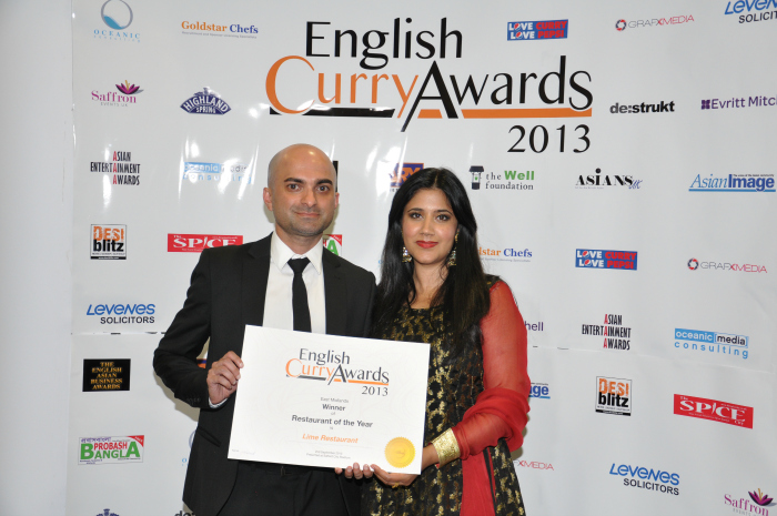 English Curry Awards 2013: Resturant of the year East Midlands
