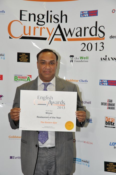 English Curry Awards 2013: Restuarant of the year South West