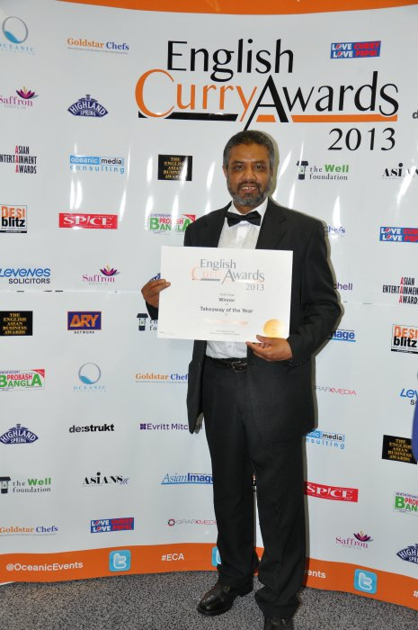 English Curry Awards 2013: Takeaway of the Year
