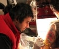 Tattoo artist Lokesh in Delhi at work