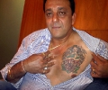 Sanjay Dutt shows his chest tattoo