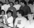 Jagjit Singh & Chitra Singh during recording of 'Beyond Time'