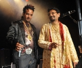 Kuldeep Manak and Jazzy B on stage