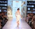 Showstopper Kalki Koechlin walks for Nishka Lulla