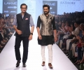 Designer Raghavendra Rathore with showstopper Riteish Deshmukh