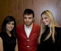Mahreen Hussain (left), Superstar magazine CEO Adam Daniel, Sharon from John Peter (right)