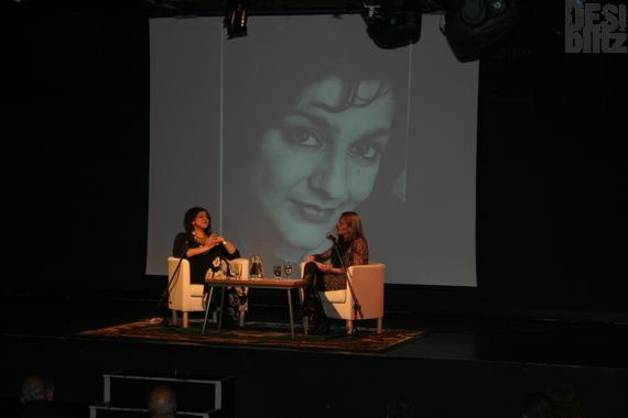 Meera Syal with Nikki Bedi