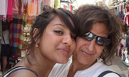Meera Syal with daughter