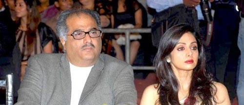 Boney Kapoor and Sri Devi