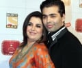 Karan Johar and Farah Khan
