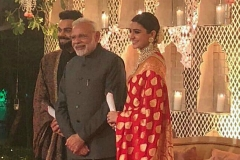 Virat and Anushka with Narendra