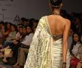 Designer News Print Saree