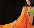 Orange and Lime Saree