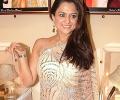 Thin Cream Embroided Saree