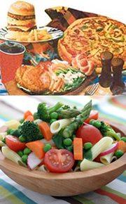 fatty vs healthy food