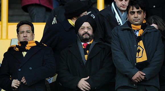 Samir Thapar and colleagues at Wolves vs. Watford match