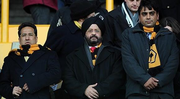 Samir Thapar and colleagues at Wolves vs. Watford match