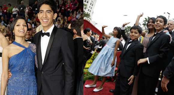 Slumdog Millionaire cast at Oscars