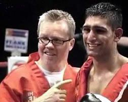 Amir Khan and coach Freddie Roach