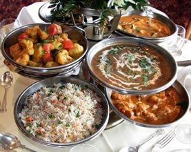 Selection of Indian dishes