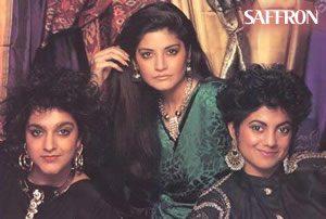 Saffron - (l) Meera Syal, (c) Nazia Hassan, (r) Rita Wolf
