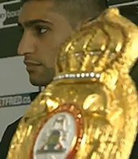 Amir Khan and the champion belt