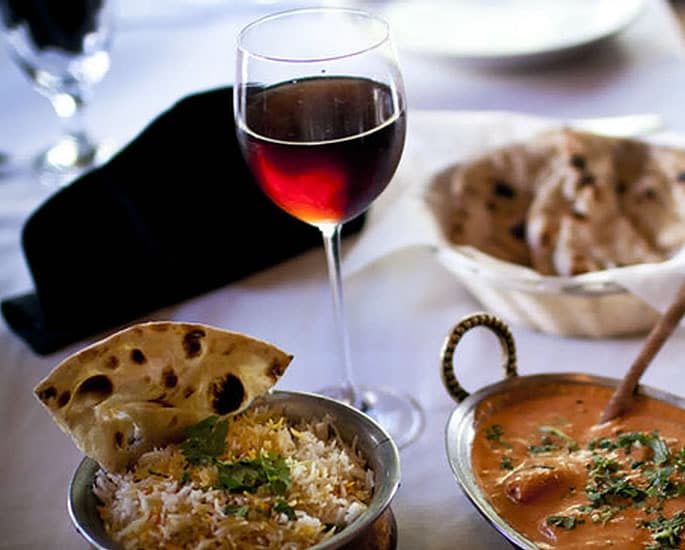 Best Wines for Indian Cuisine - red wine