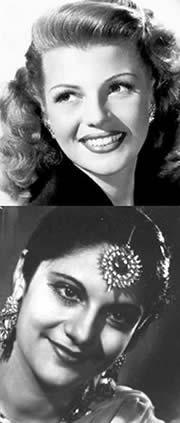 Rita Hayward (!940's Actress) and Esther Abraham (Miss India)