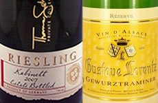 Riesling and Gewürztraminer Wine