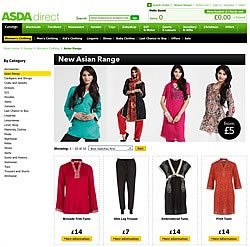Asda Asian Range of Clothing