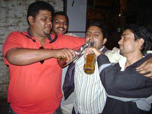 Indian Men Drinking
