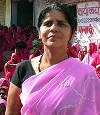 Women's gang in 'Pink Saris'