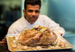 Chef Ramesh Kanakraja with his Desi Turkey
