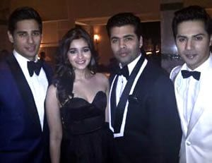 Karan Johar and the Student of the Year cast