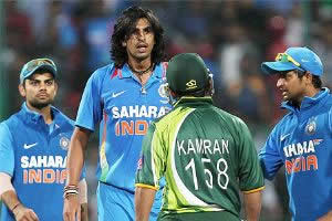 Ishant and Kamran in verbal face-off