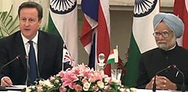 David Cameron's visit to India