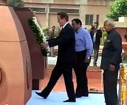 David Cameron at Jalliawalla Bagh