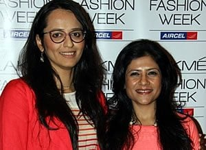 Purnima Lamba, Head of Innovations, Lakme with LFW SR 2013 Grand Finale Designer Namrata Joshipura