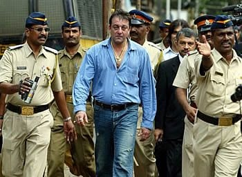Sanjay with Police in 2007