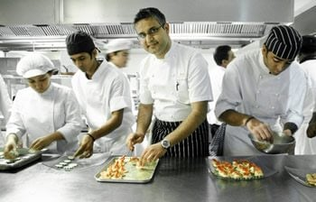 Atul Kochhar enjoying his craft