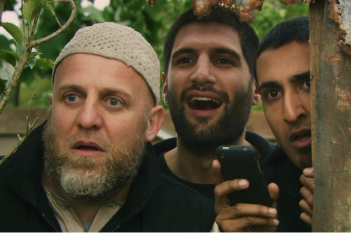 Scene from Four Lions with British Asian actors